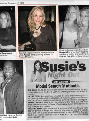 Susie's Night Out - from The Province